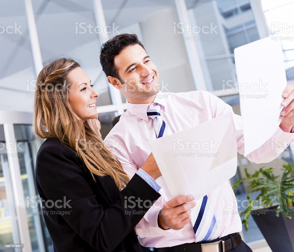 Happy business couple royalty-free stock photo