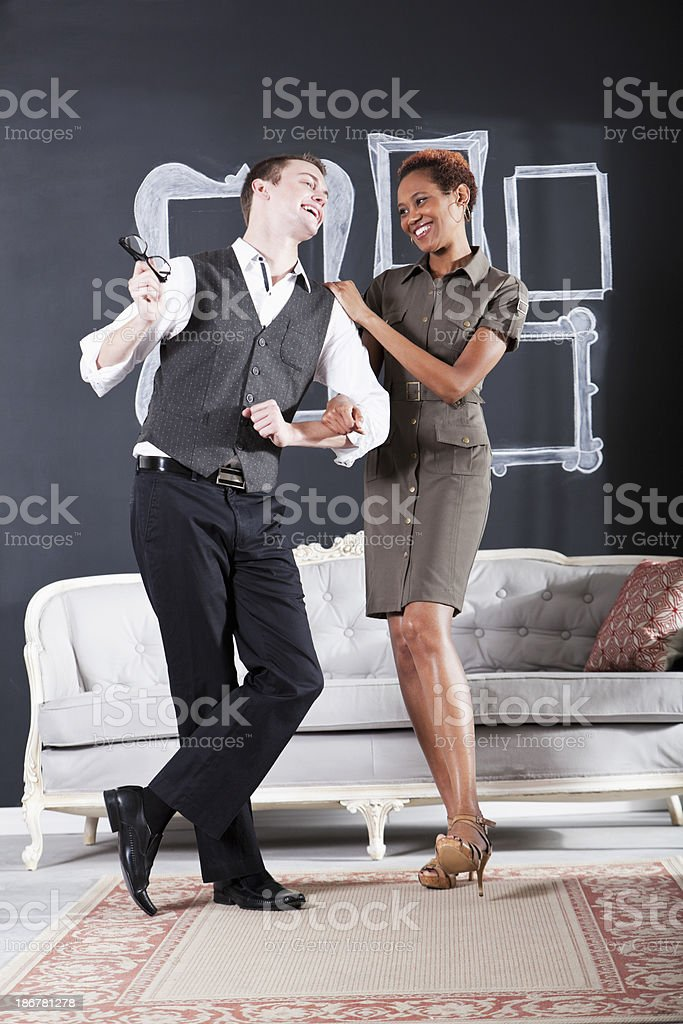 Happy business couple stock photo