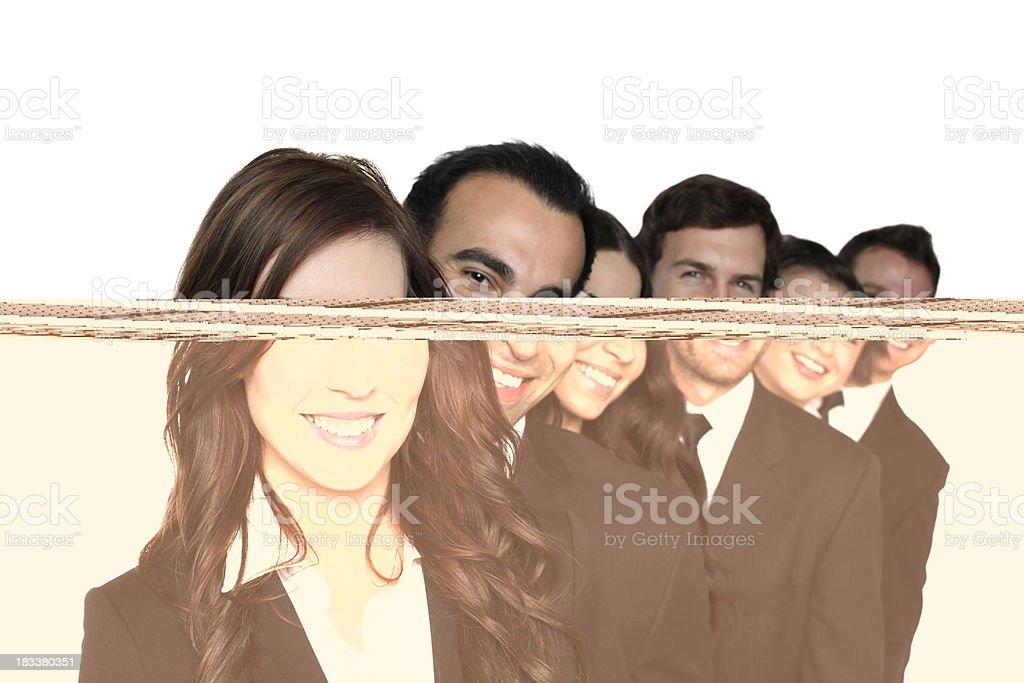 Happy business executives royalty-free stock photo