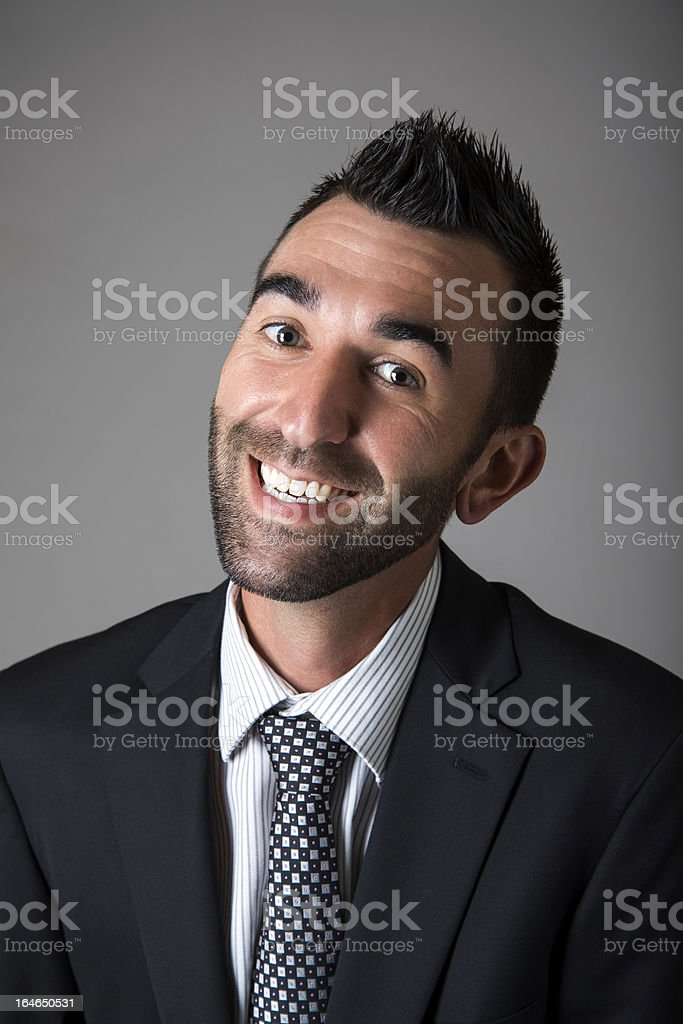 Happy Business Man royalty-free stock photo