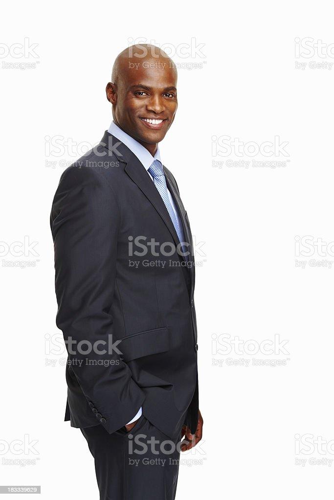 Happy business man posing royalty-free stock photo