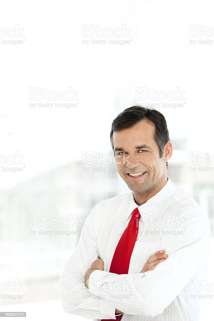 Happy Business Manager royalty-free stock photo