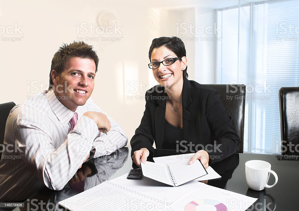 Happy Business Partners royalty-free stock photo