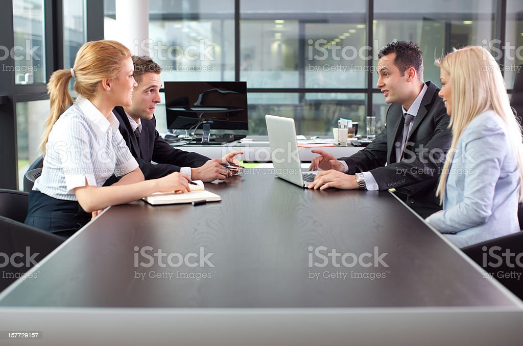 Happy Business Team. royalty-free stock photo