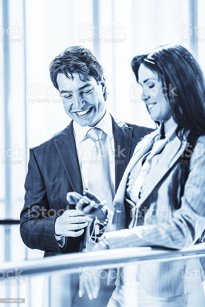 Happy business team royalty-free stock photo