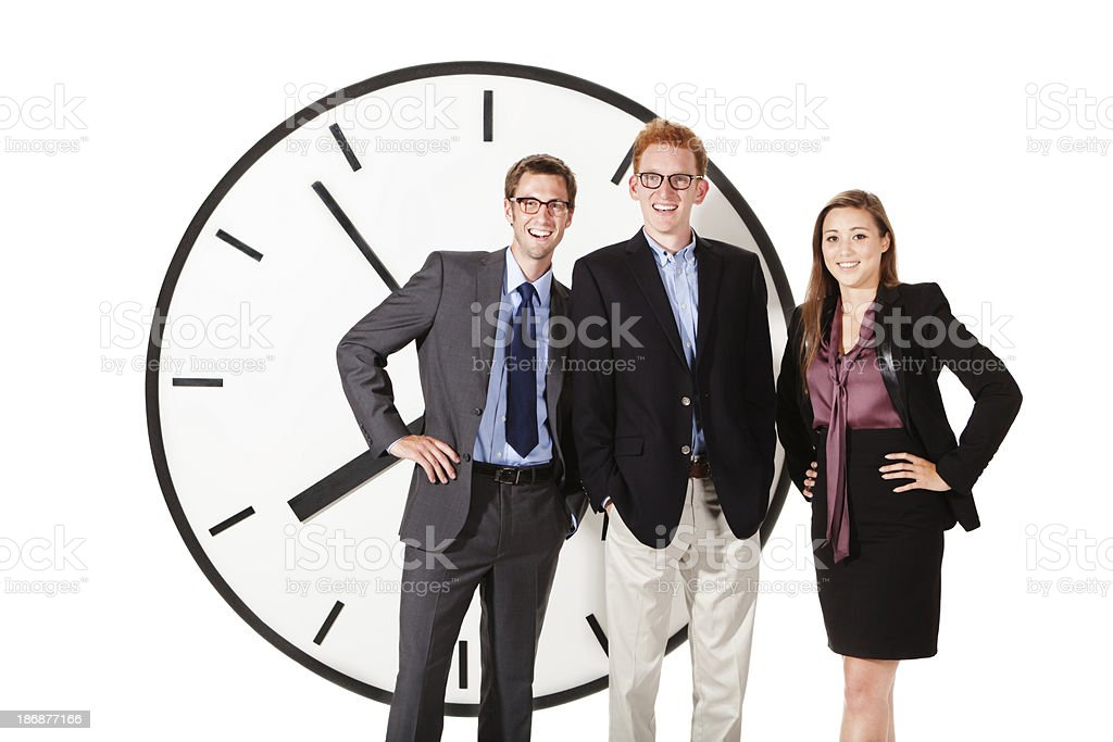 Happy Business Team with Succesful Time Management Strategy royalty-free stock photo