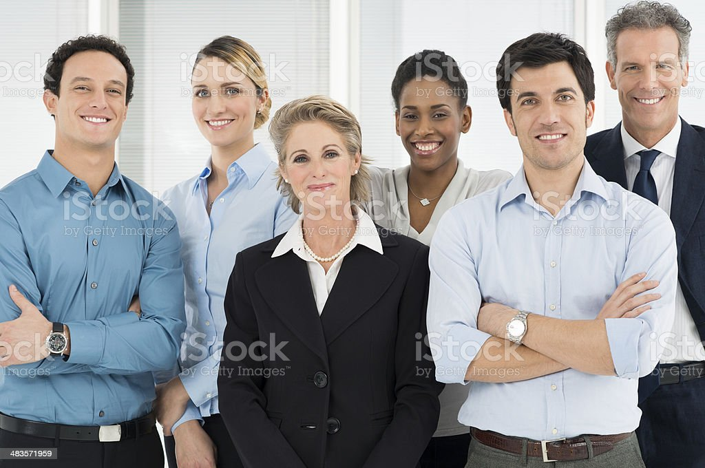 Happy Business Teamwork stock photo