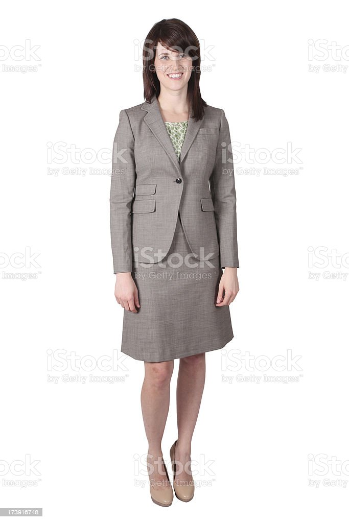 Happy business woman wearing a suit royalty-free stock photo