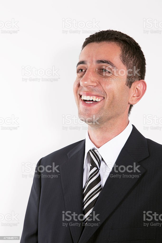 Happy Businessman Laughing royalty-free stock photo