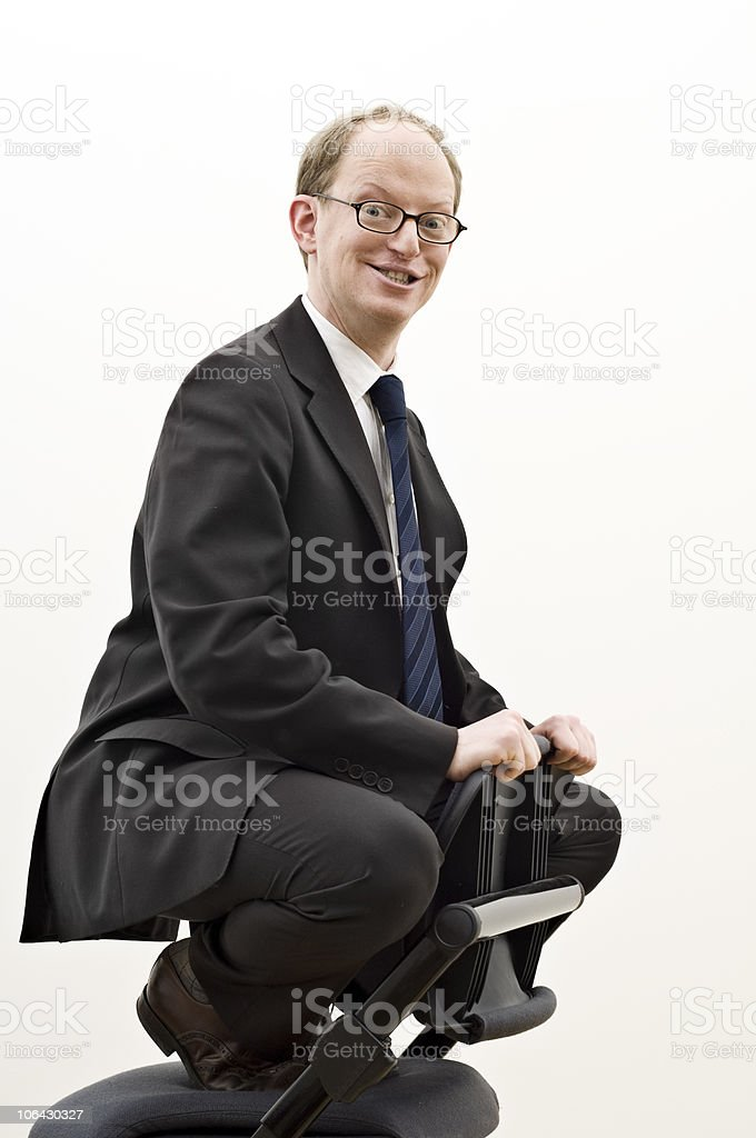 Happy Businessman. royalty-free stock photo