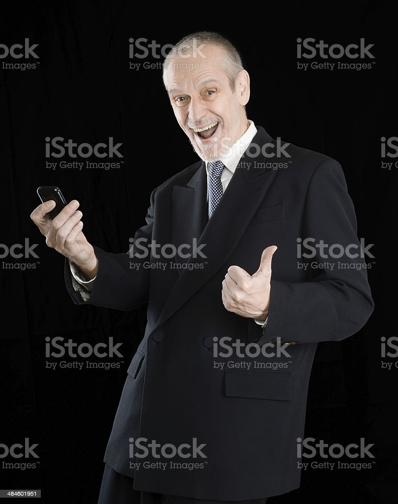 Happy Businessman with Thumb Up stock photo