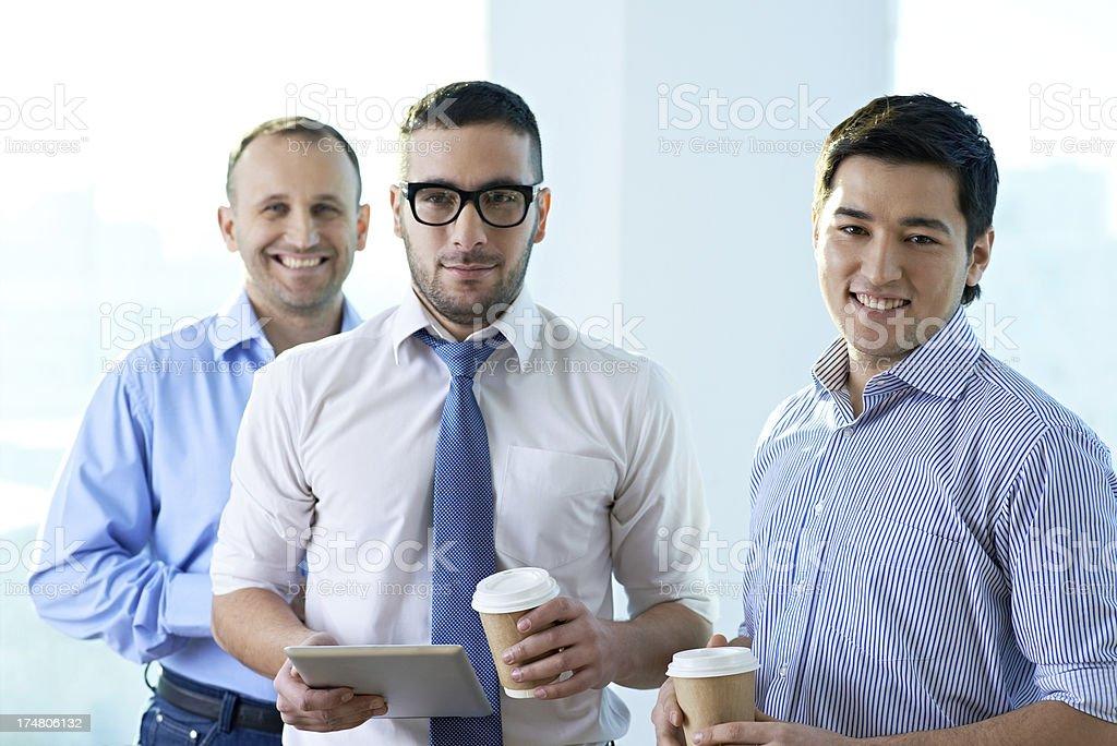 Happy businessmen royalty-free stock photo