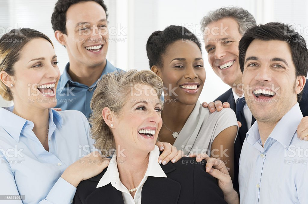 Happy Businesspeople Celebrate stock photo