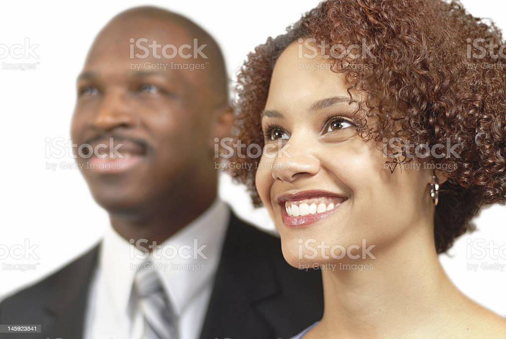Happy businesspeople stock photo