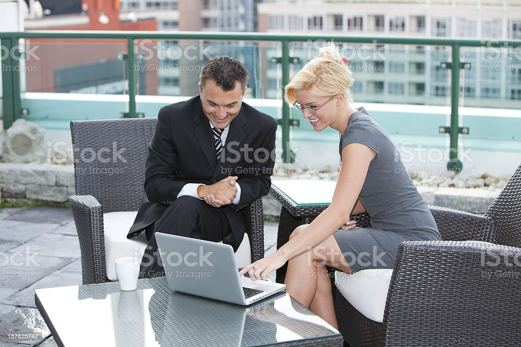 Happy Businesspeople royalty-free stock photo