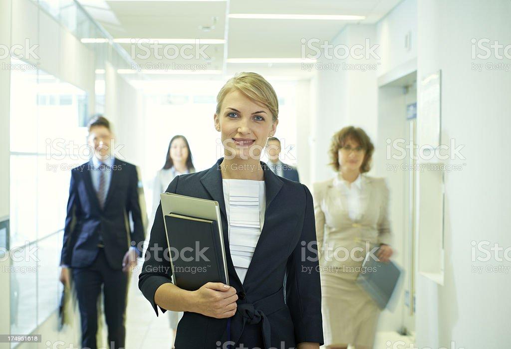 Happy businesswoman royalty-free stock photo