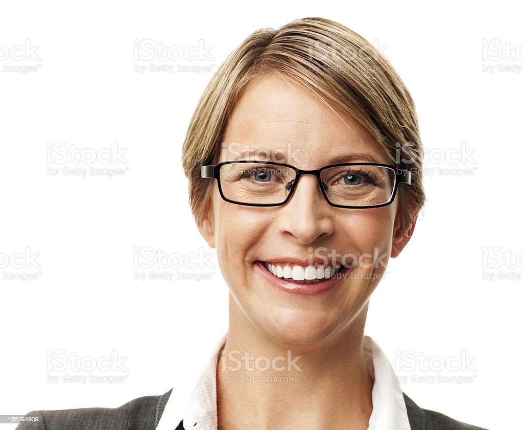 Happy Businesswoman Wearing Glasses royalty-free stock photo