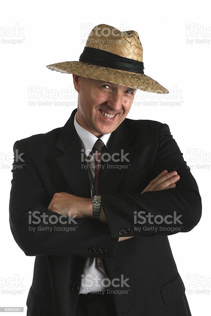 Happy bussinesman stock photo