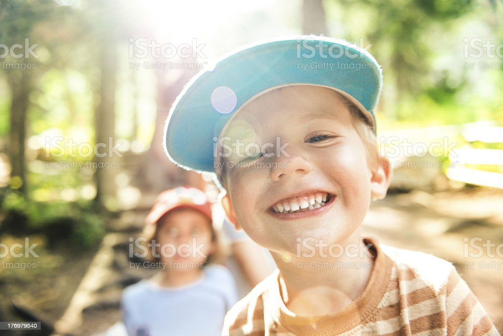 Happy Camper stock photo