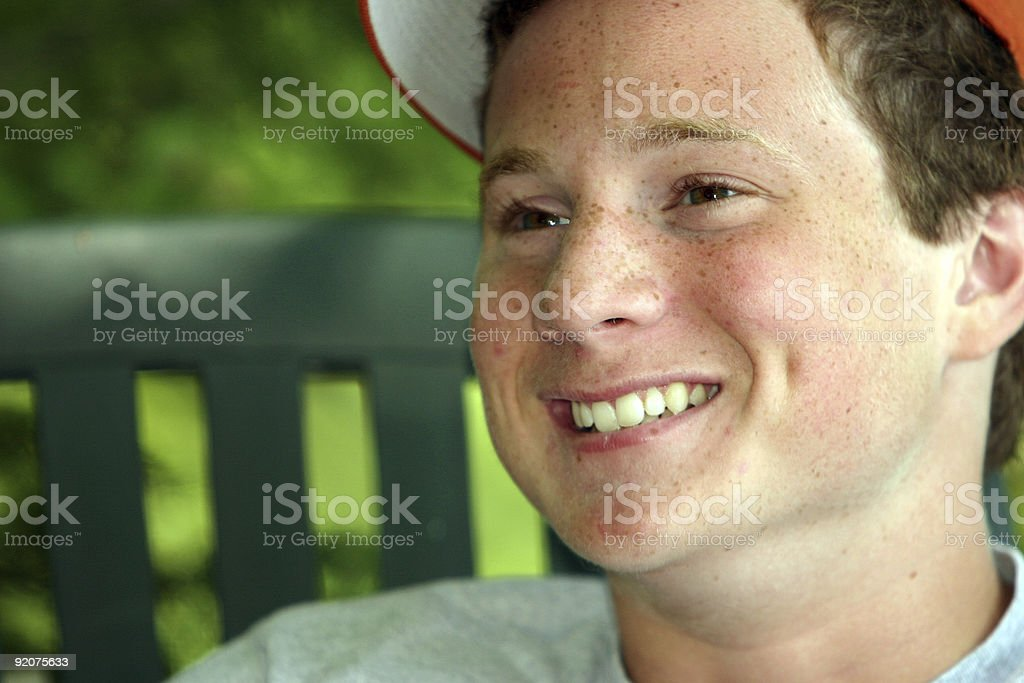 happy camper royalty-free stock photo