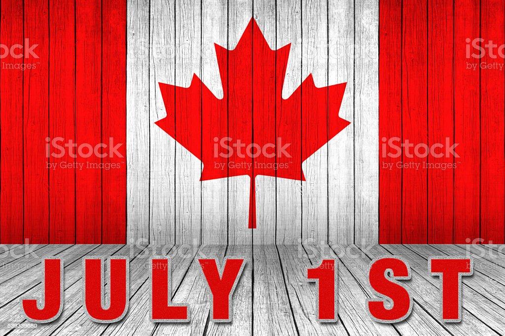 Happy Canada Day stock photo