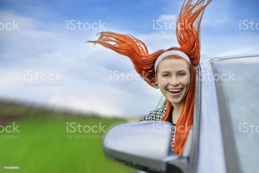 happy car ride royalty-free stock photo