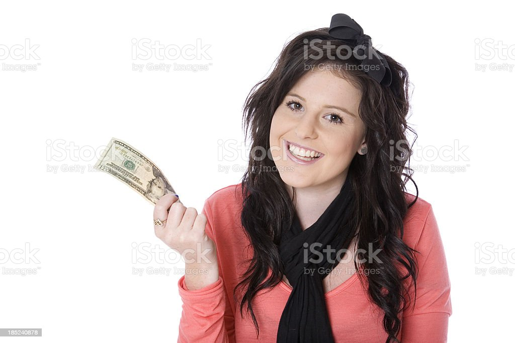 Happy Cashed Up Teen royalty-free stock photo
