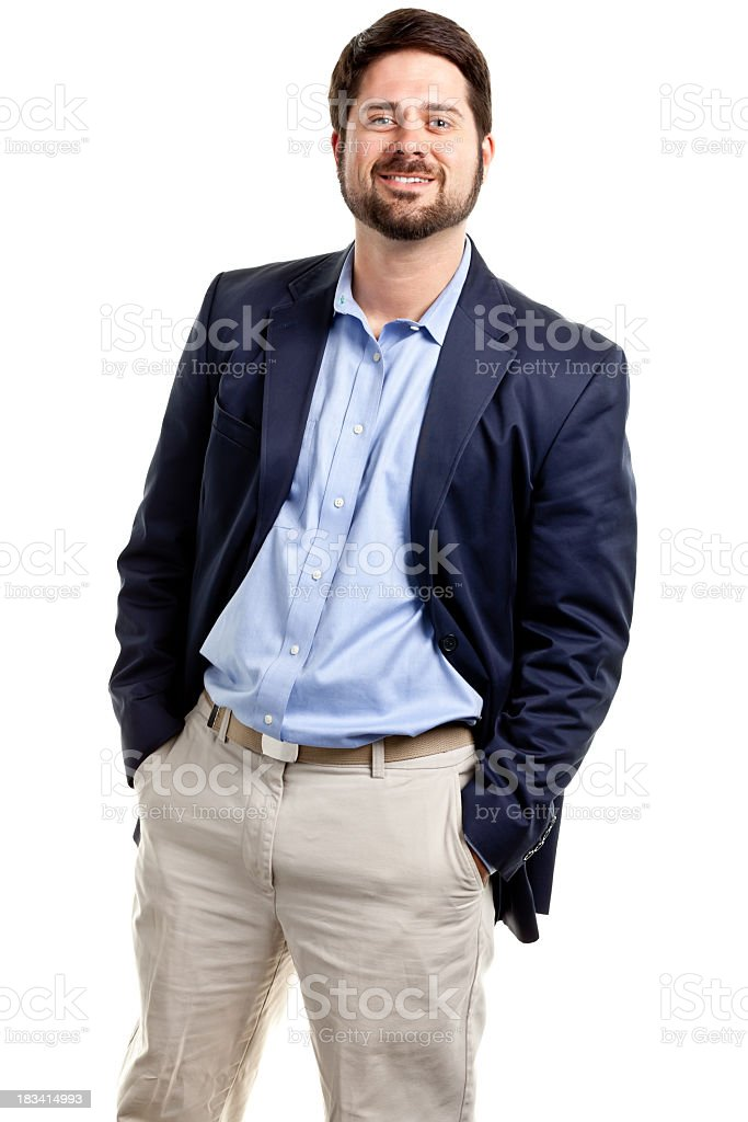 Happy Casual Businessman stock photo