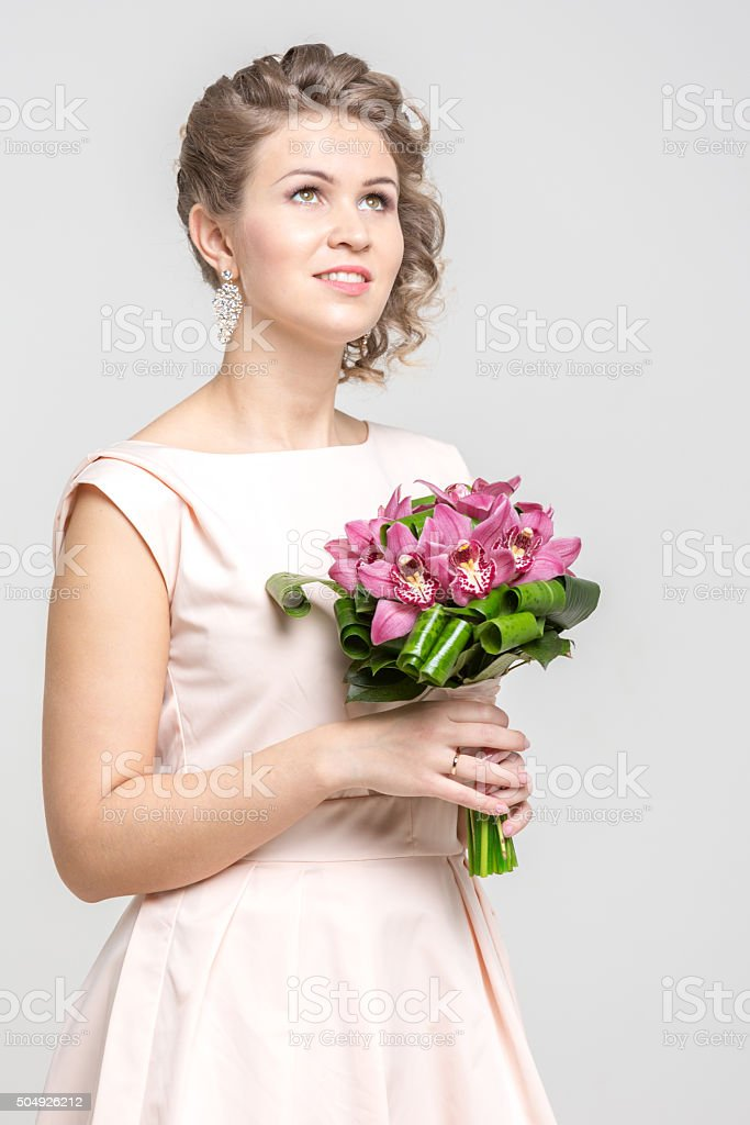 Happy Charming Bride stock photo