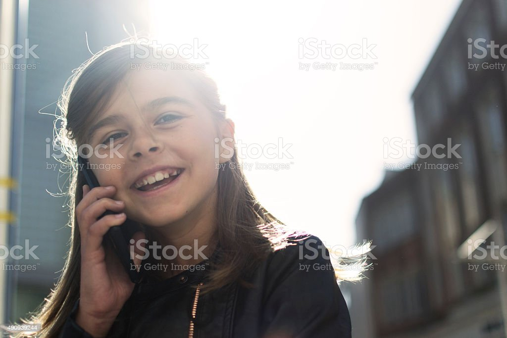 Happy chatter stock photo