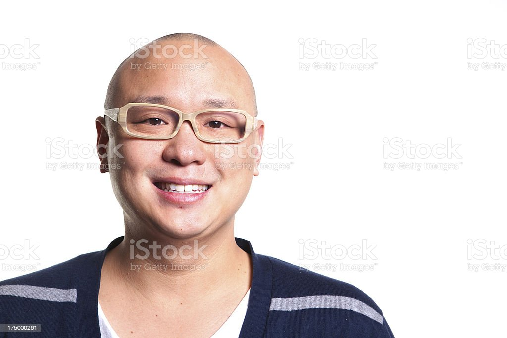 Happy Cheerful Casual Asian Man Portrait royalty-free stock photo