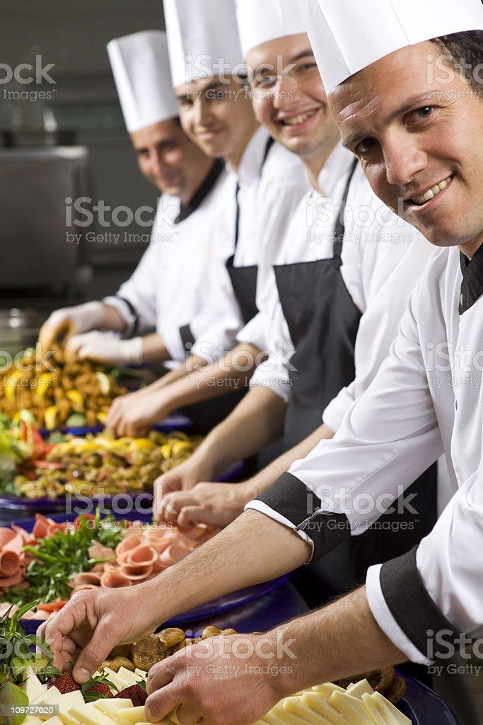 Happy Chefs royalty-free stock photo