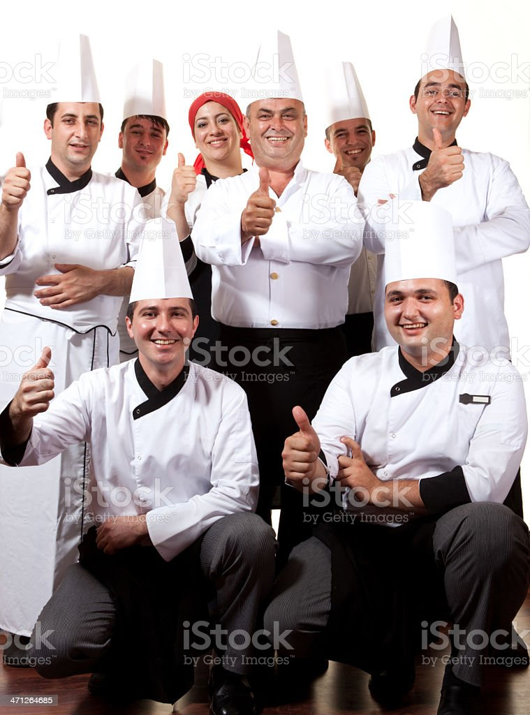 Happy chefs royalty-free stock photo