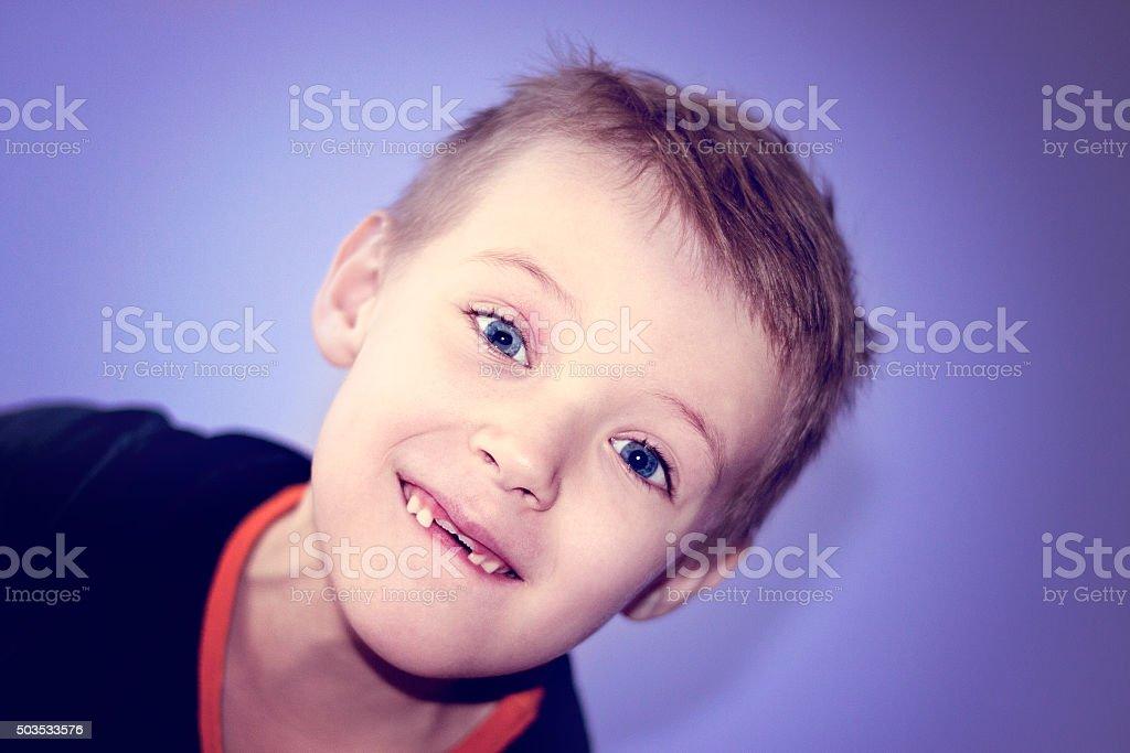 Happy child boy stock photo