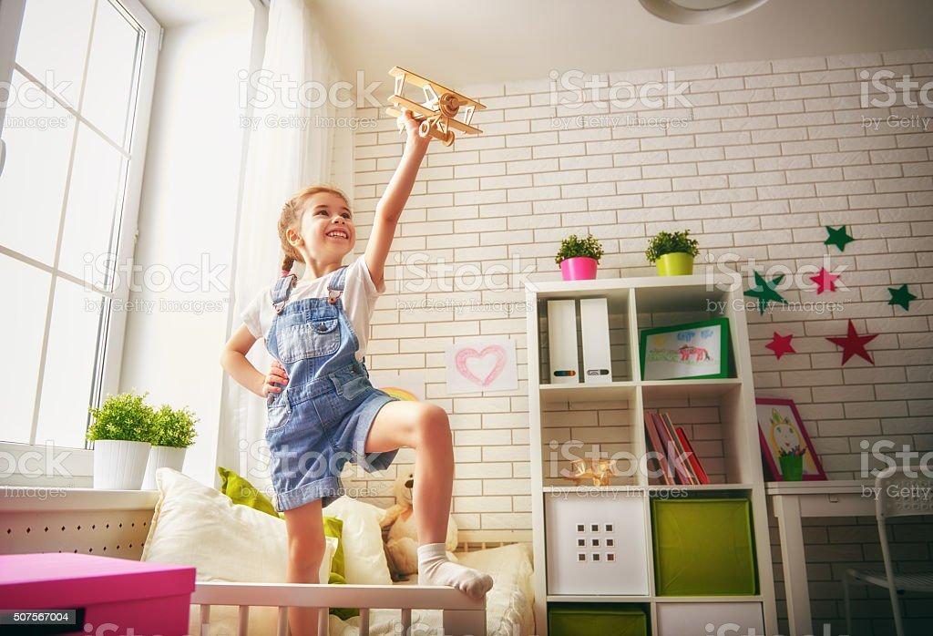 happy child girl stock photo