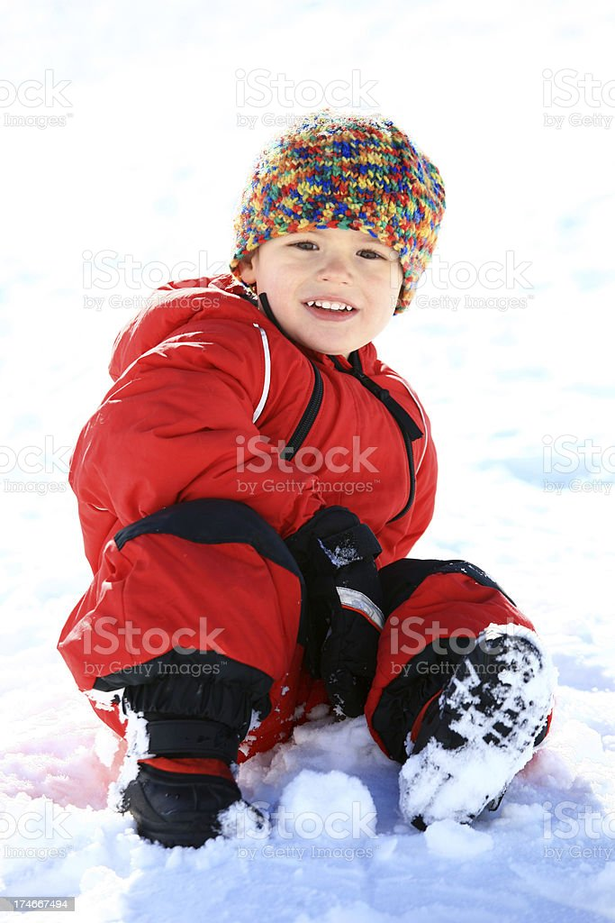 Happy Child in the Snow royalty-free stock photo