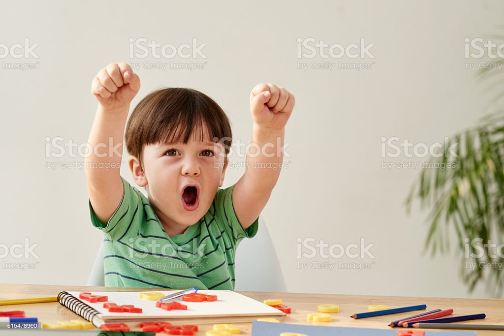 Happy child stock photo