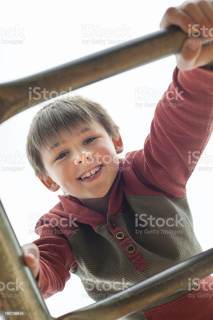 Happy Child Playing Outside royalty-free stock photo