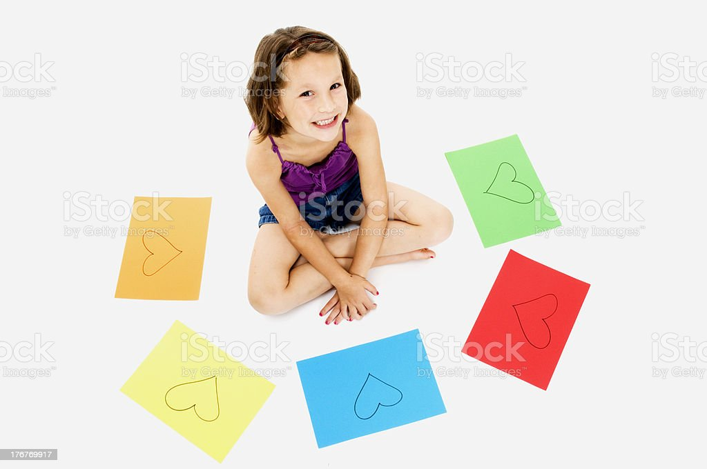 Happy Child Surrounded by Love royalty-free stock photo