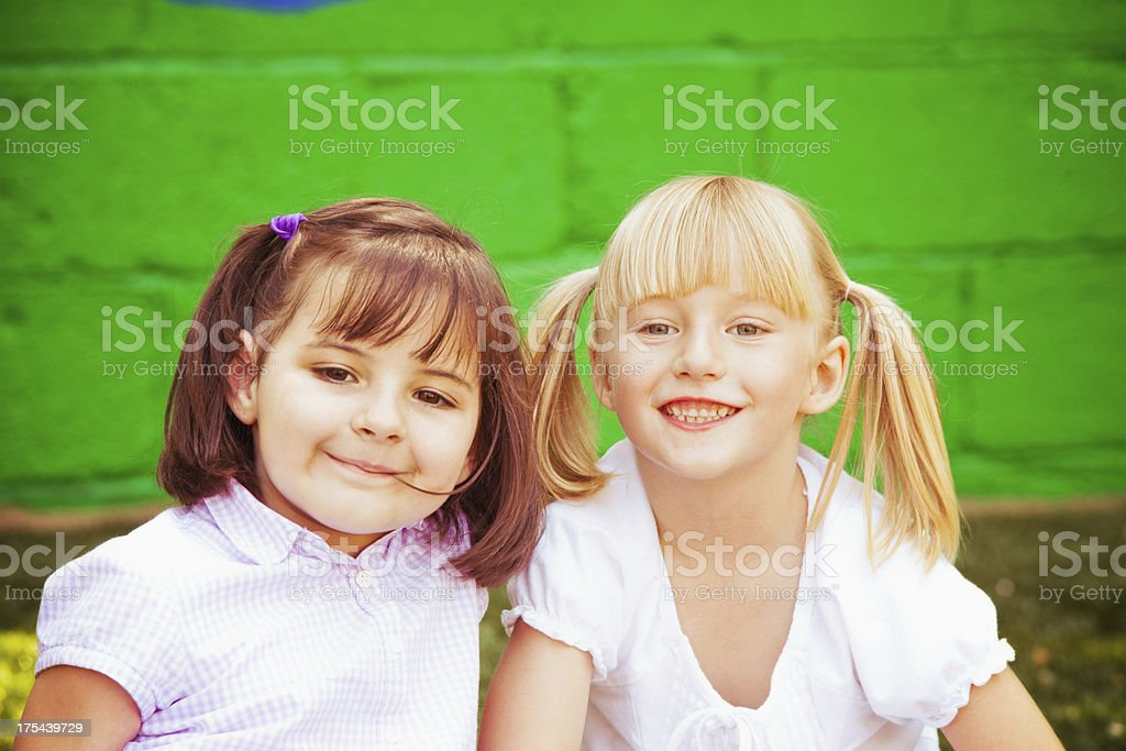 Happy Childhood Friends royalty-free stock photo
