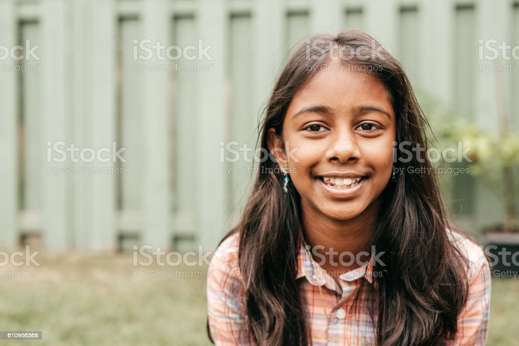 Happy childhood stock photo