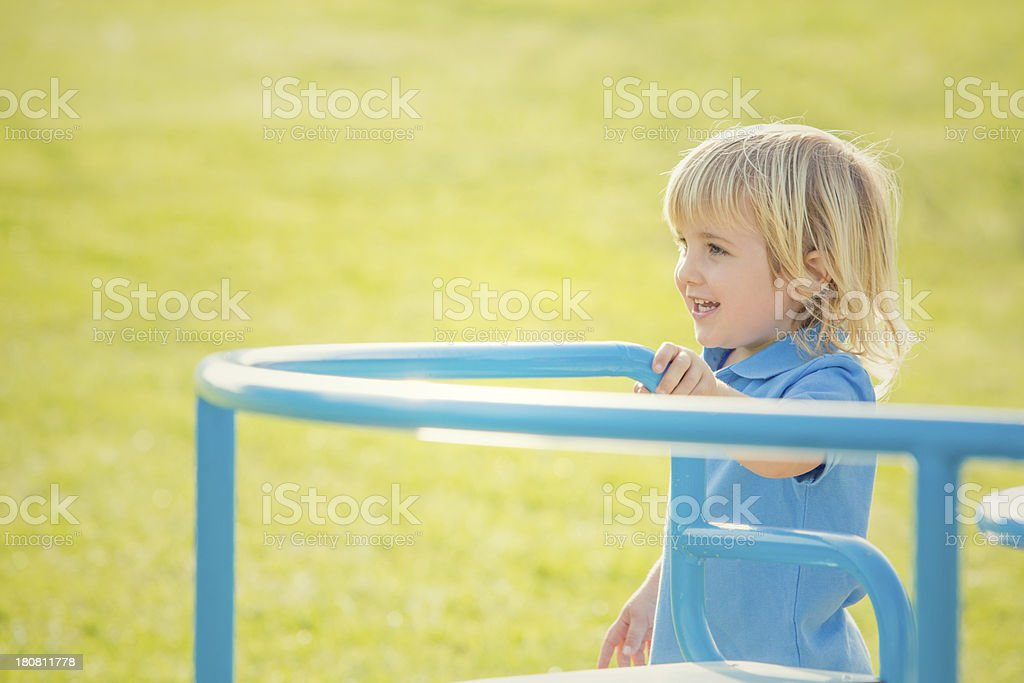happy children are playing in the park royalty-free stock photo