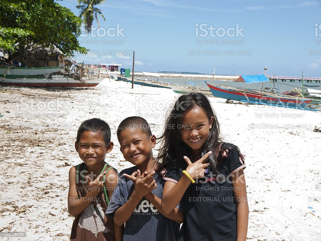 Happy children, Philippines stock photo