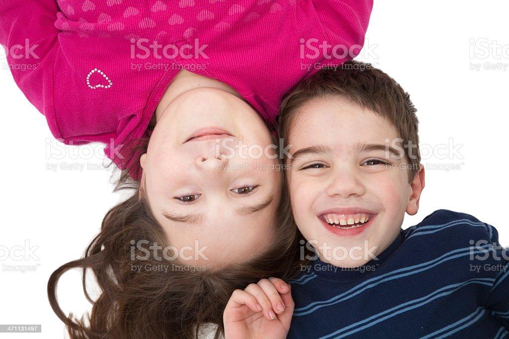 Happy children stock photo
