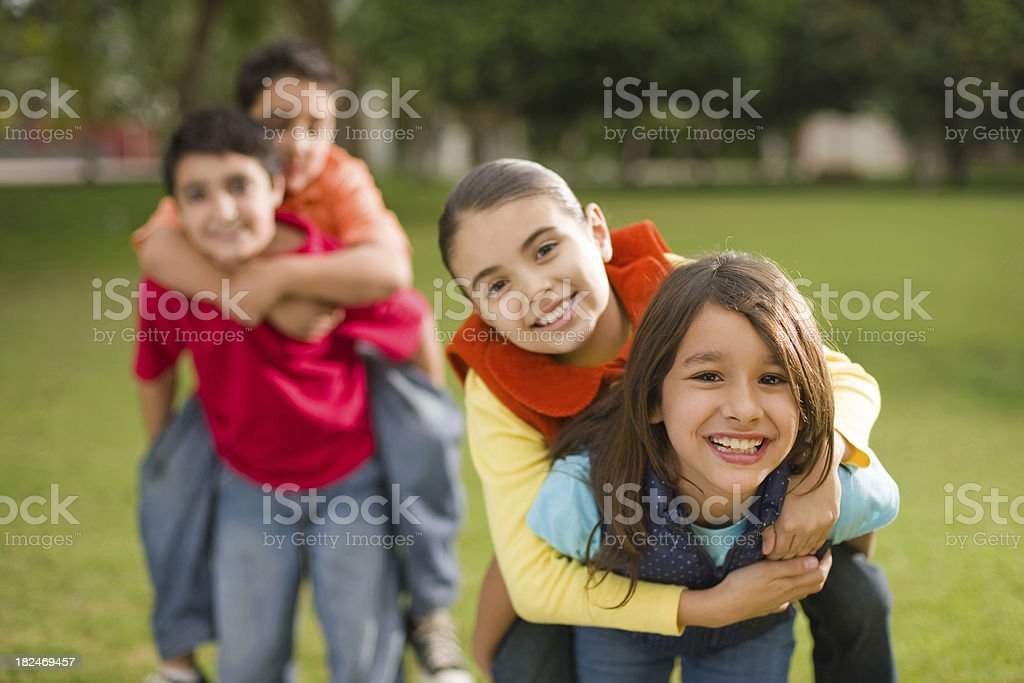 Happy children playing royalty-free stock photo