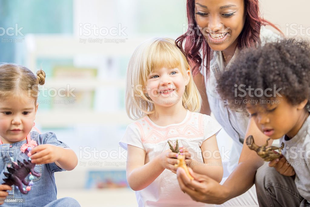 Happy Children Playing Together stock photo
