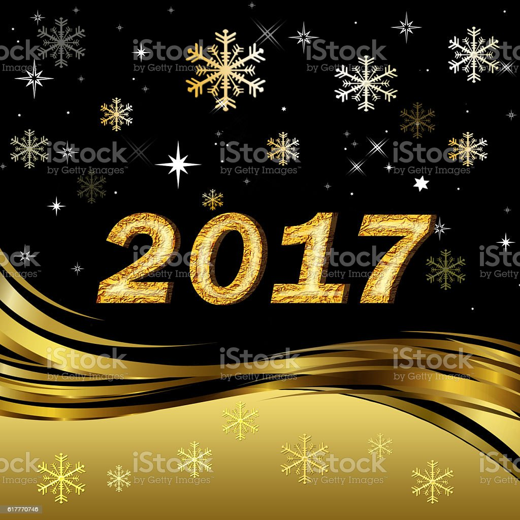 Happy Christmas and New Year 2017 stock photo