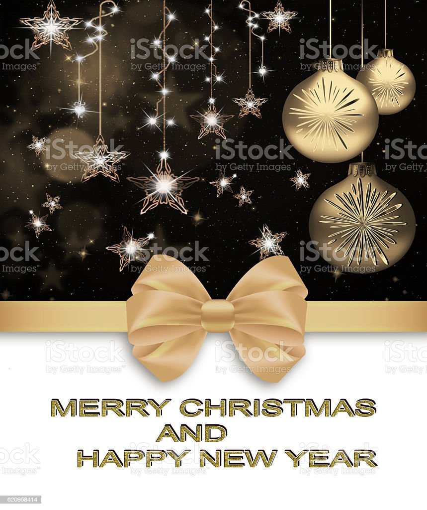 Happy Christmas and New Year stock photo