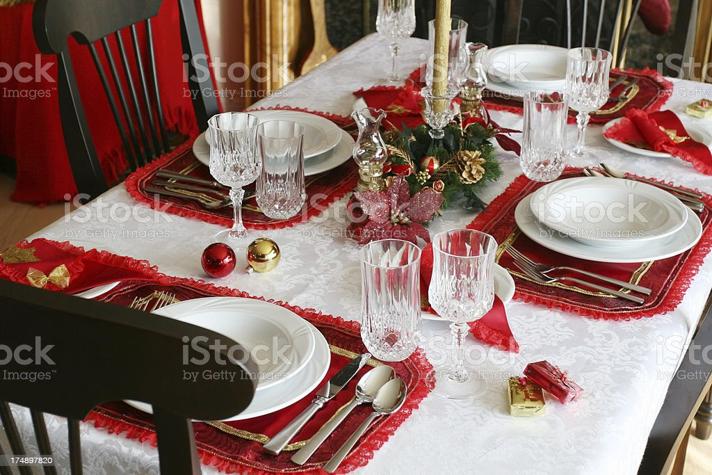 Happy Christmas meal! royalty-free stock photo