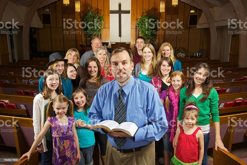 Happy Church Smiling stock photo
